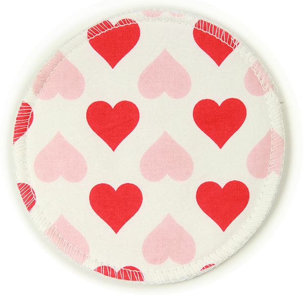 (2 Pairs / 4 Pack) Hearts